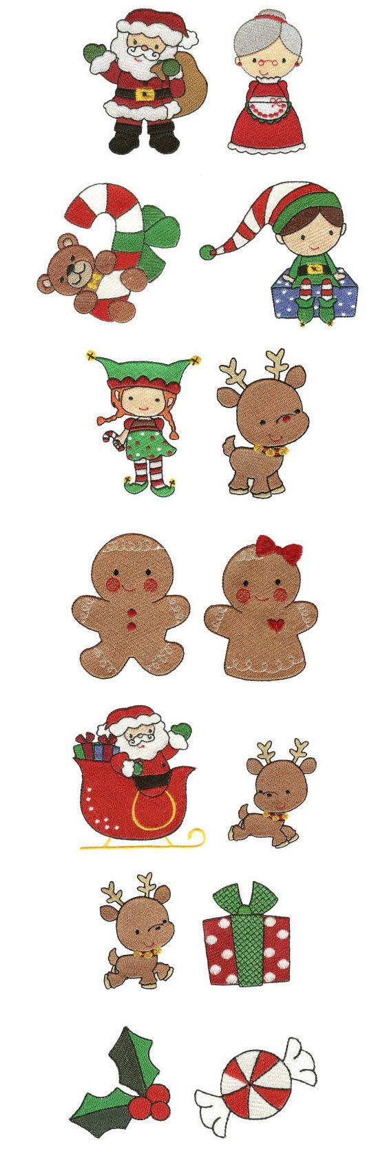 Embroidery | Machine Embroidery Designs | Sweet Christmas