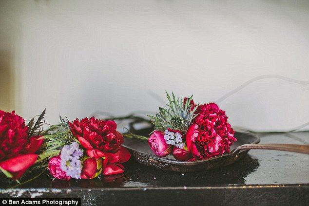 Wedding flowers : Annie who is a florist organised all the flowers on the day...