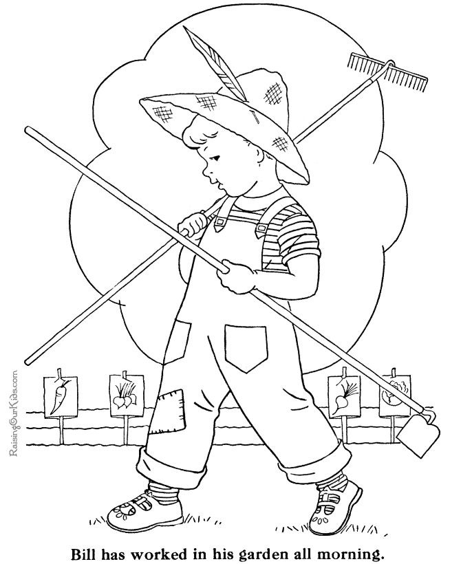 free farm coloring pages free printable garden coloring page - Drawings For Children To Color