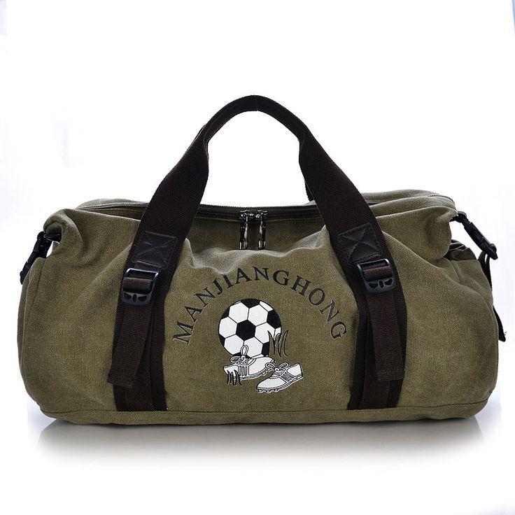 ca8a42b21aa0 New canvas gym bag football training fitness handbag camping travel big  capacity storage crossbody bag yoga