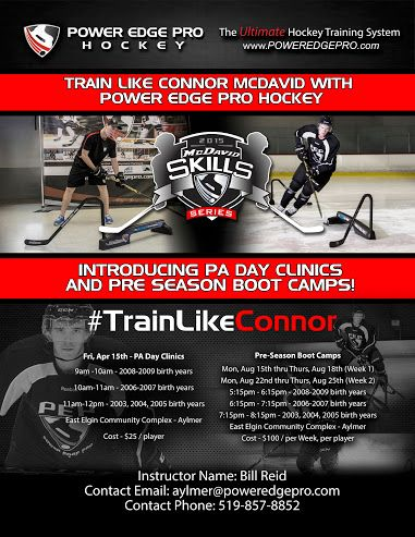Announcing PA Day Clinic Friday April 15th   #TrainLikeConnor     #PEPHockeyTraining     #AylmerON     #PEPAylmer     Power Edge Pro Hockey Training Aylmer - Google+