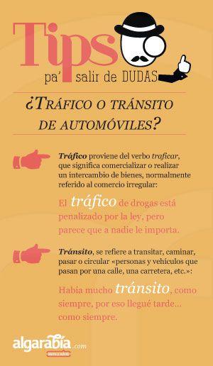 ¿Tráfico o tránsito de automóviles? #tip #consejo #lengua #español