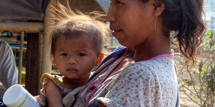 enfants malnutris du Laos