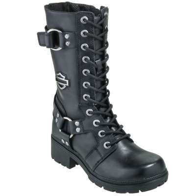 Harley Davidson Boots: 83736 Eda Women's Black Motorcycle Boots