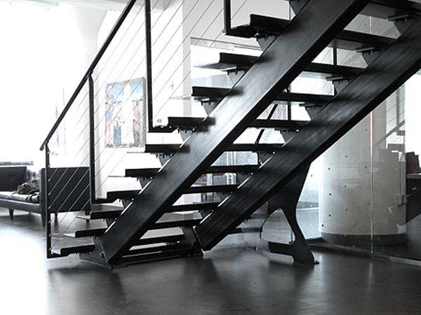 Best Andrew Becker Design Concrete Tread Steel Stair Steel 640 x 480
