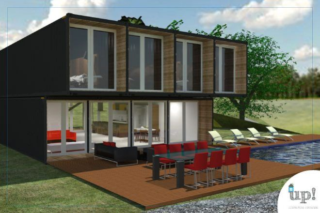 Casa Container 270m² e 5 quartos Plantas de casa