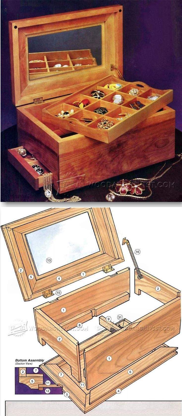 build jewelry box woodworking plans and projects wood work. Black Bedroom Furniture Sets. Home Design Ideas