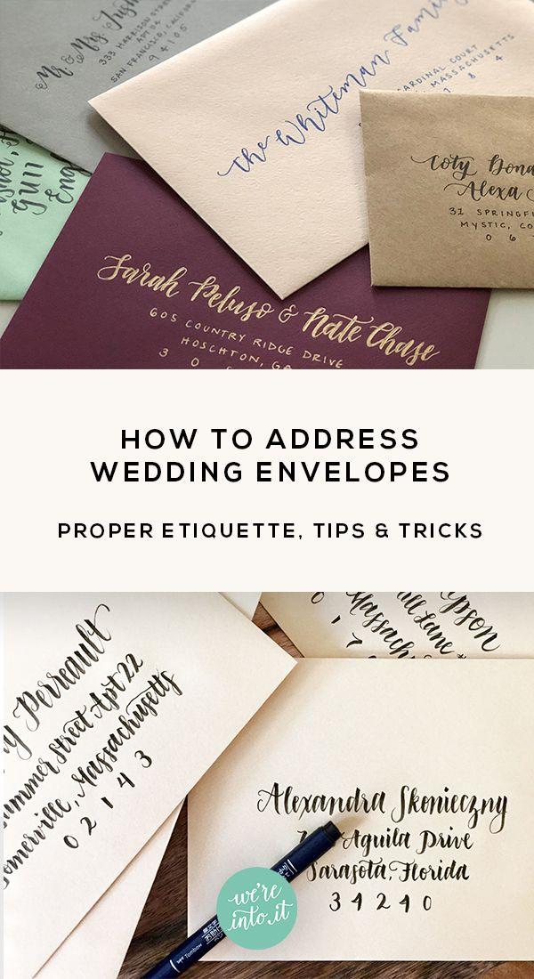 Tips Tricks For Addressing Wedding Envelopes Make Your Wedding Stationery Pop Wedding Envelopes Wedding Stationery Wedding Invitation Design