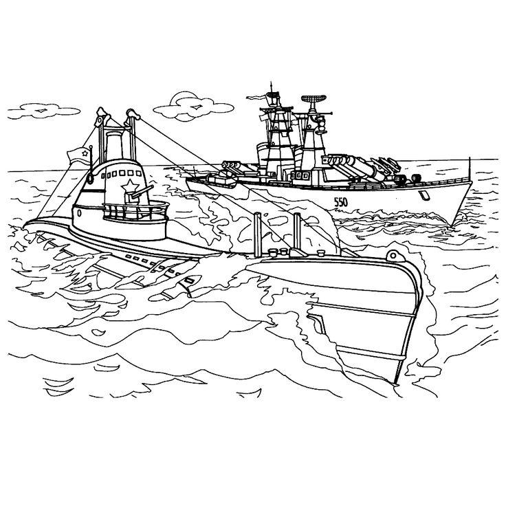 Leuk voor kids kleurplaat ~ Een duikboot aan de