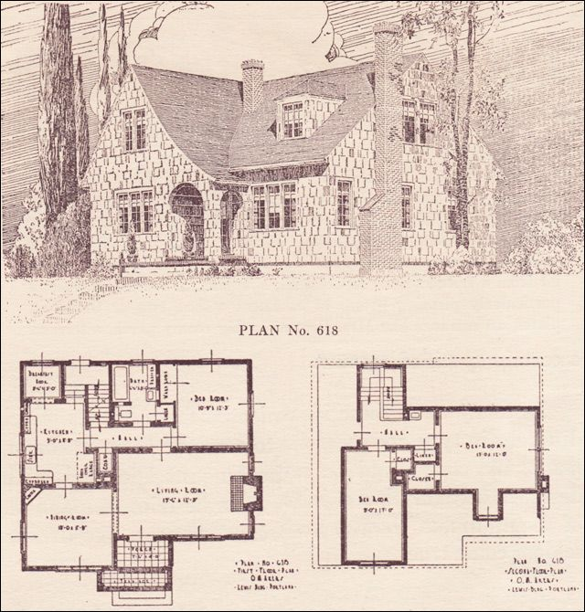 1924 English Revival   House Plans   The Portland Telegram Plan Book    Oregon   No.