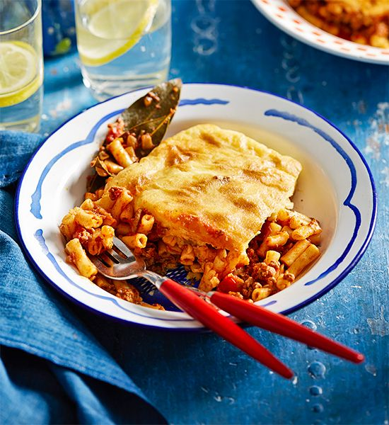 Pastitsio: Layers of gooey cheese, tender pasta and a lamb mince sauce are why this Greek classic is loved the world over.