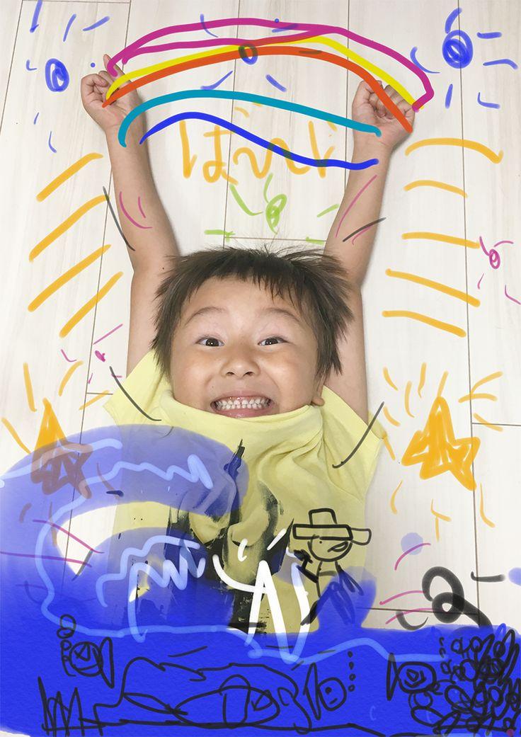 Digital artwork of my son - 6 years old