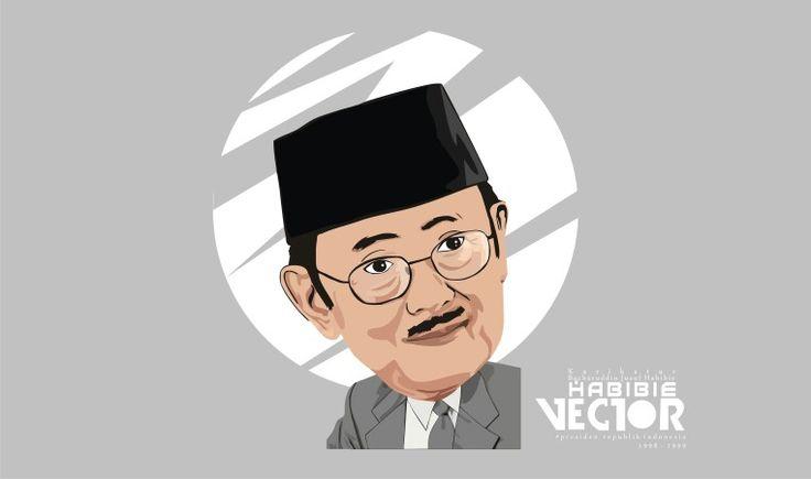 Karikatur presiden BJ. HABIBIE