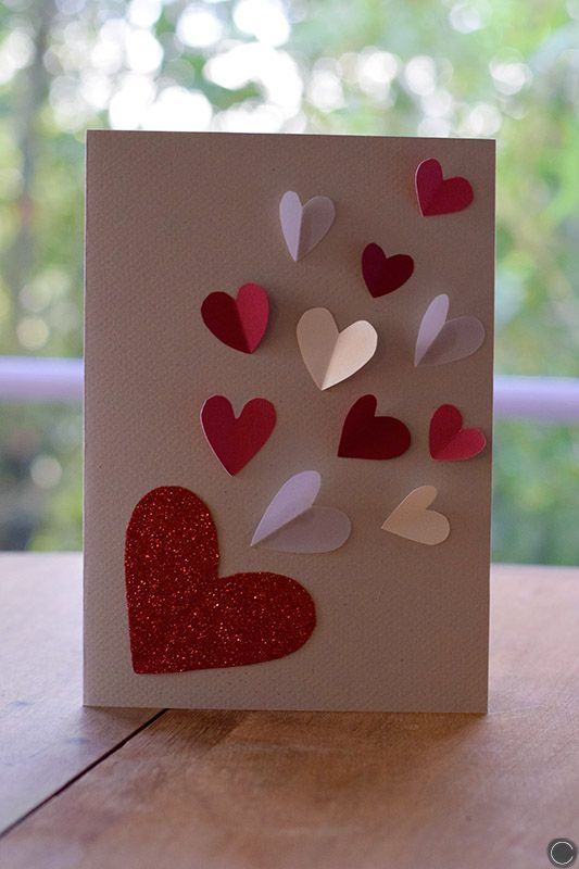 DIY carte St Valentin / DIY Valentine's day card / @cbyclemence blog