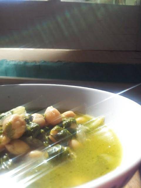minestra di ceci…chickpea soup