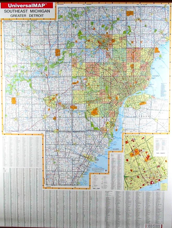 Greater Detroit Map 45 best Detroit Maps