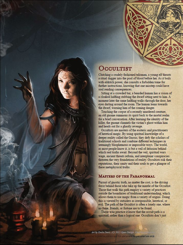 Nerd Sourced homebrew class: the Occultist