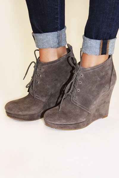 Jessica Simpson Catcher Wedge Booties with jeans | click to enlarge