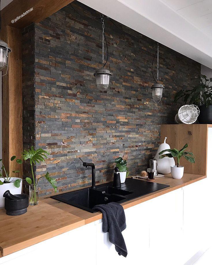 Die besten 25+ Backstein küche Ideen auf Pinterest Mauer wand - rueckwand kueche fliesenspiegel ideen kupfer