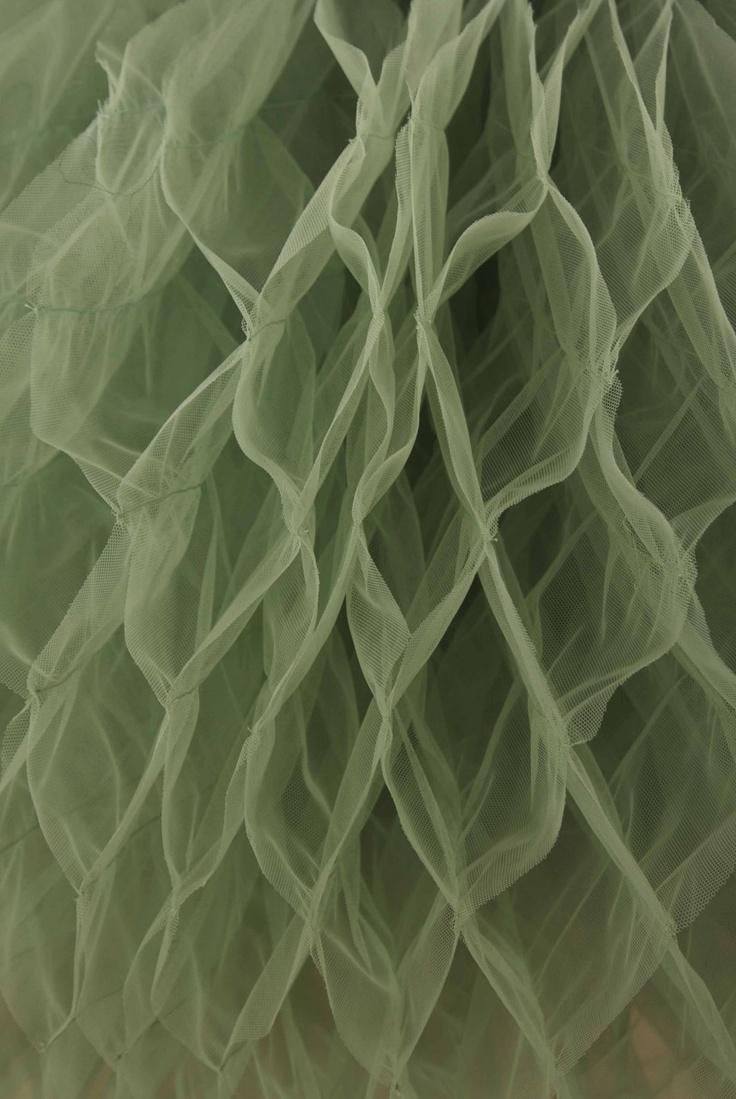 INBAR SPECTOR - Green tulle origami skirt, £1,320.00 (http://inbarspector.mybigcommerce.com/green-tulle-origami-skirt/)