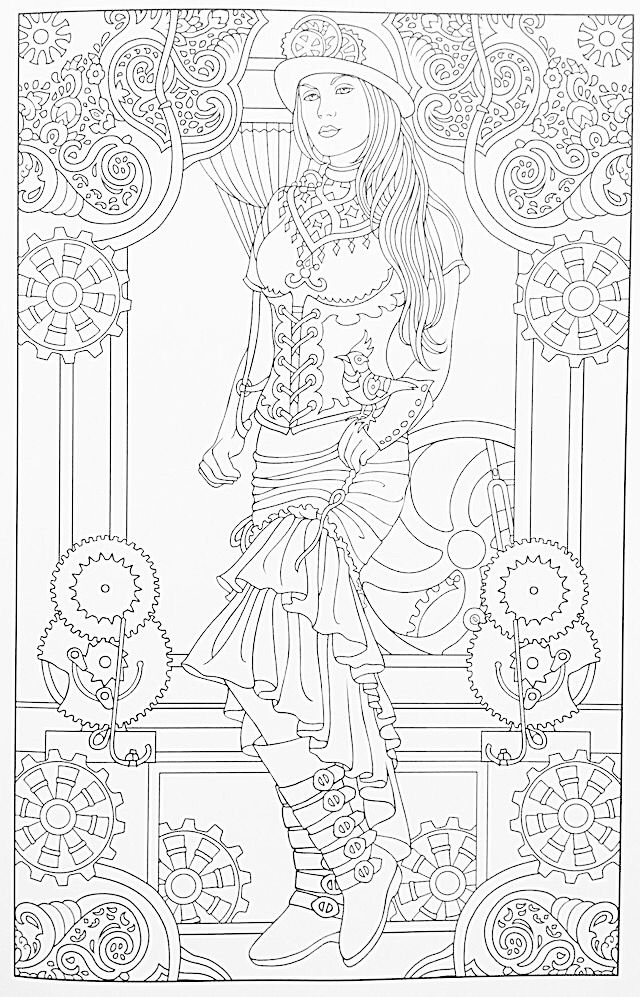 steampunk girl coloring pages - photo#22