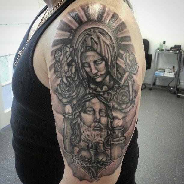Religious galf sleeve in progress
