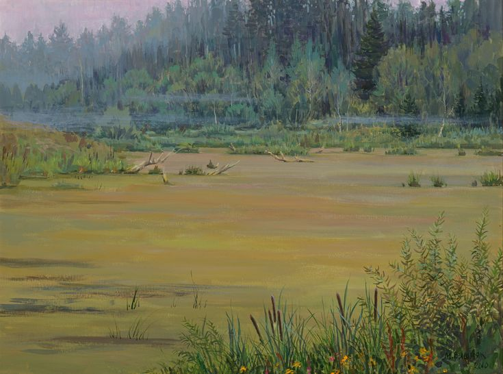 Утро на болоте / Пейзажи / Мария Вишняк