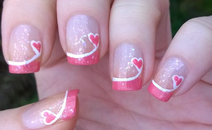 French Manicure Ideas #4: Valentine's Day PINK TIP NAILS - Easy ...