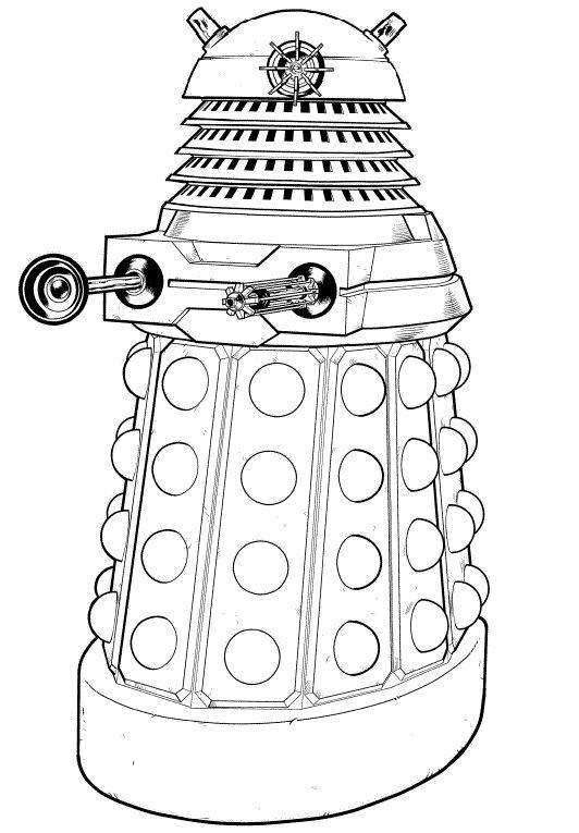 Dalek Xd Coloring Pages Pinterest