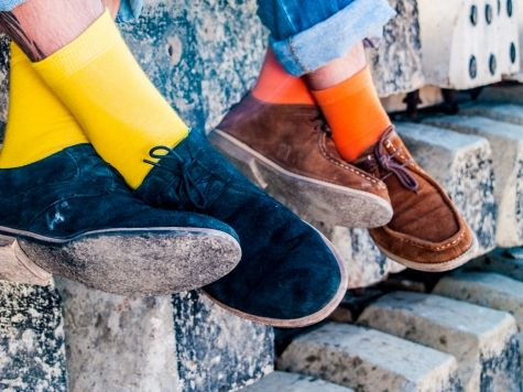 calcetines amarillos o naranjas / yellow or orange socks Lemon Obsession socks by Lemonade Attack, available in our online shop