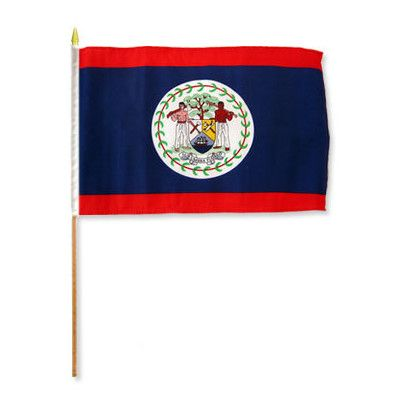 FlagsImporter Belize Traditional Flag and Flagpole Set