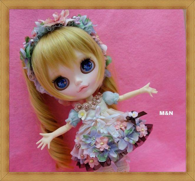 ネオブライス☆ブライスOF☆お花の妖精さんドレス☆ブーツ付き☆6点セット☆【M&N】_お花の妖精さんドレスセット☆