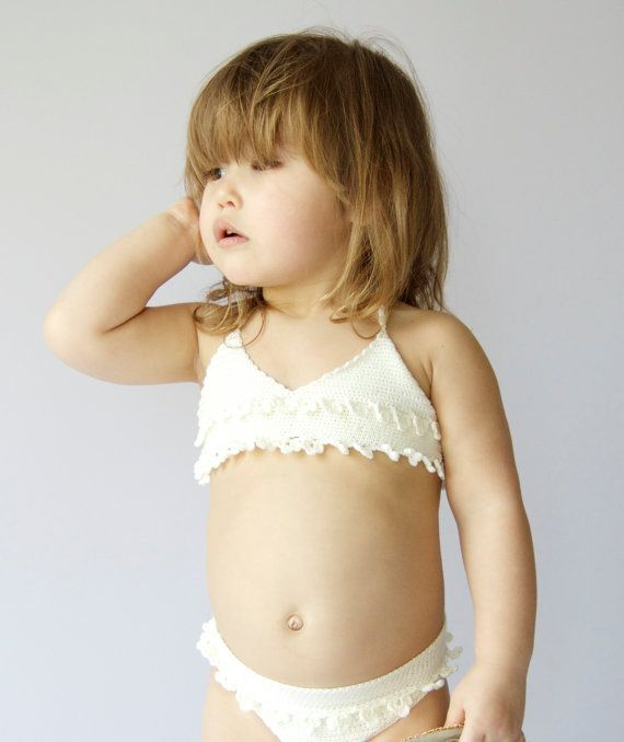 Crochet girl swimsuit. Baby Girl crochet bikini by AylinkaShop