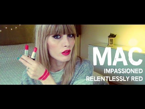 MichelaIsMyName: MAC Swatches - Impassioned vs Relentlessly Red | M...