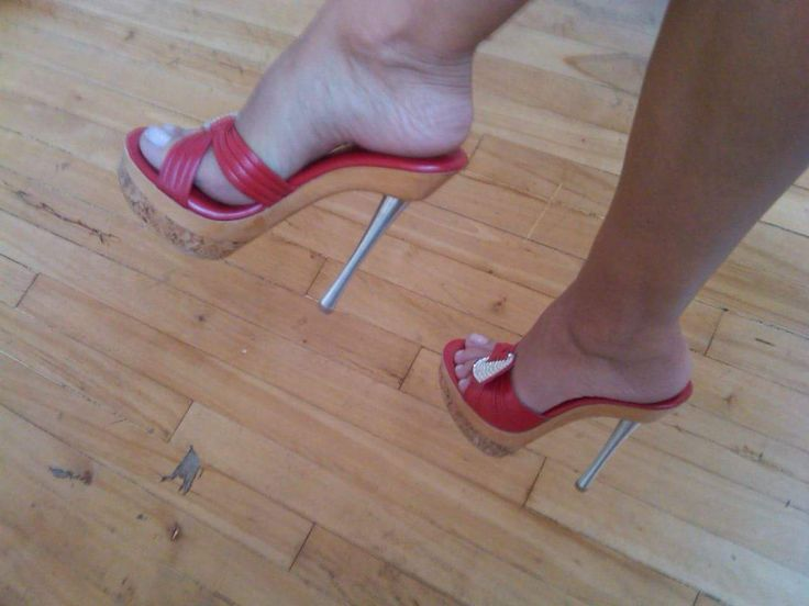Red Wooden Mules And Great Feet High Heel Pinterest