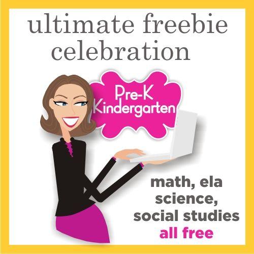 Prek and Kindergarten Free Download - Teacher Celebration on Teaching Blog Addict- over 400 FREEBIES!