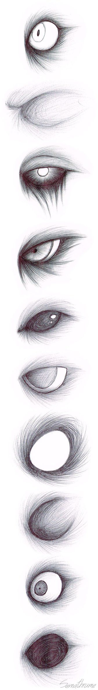 Creepypasta Eye Sketches by Samathrume on DeviantArt