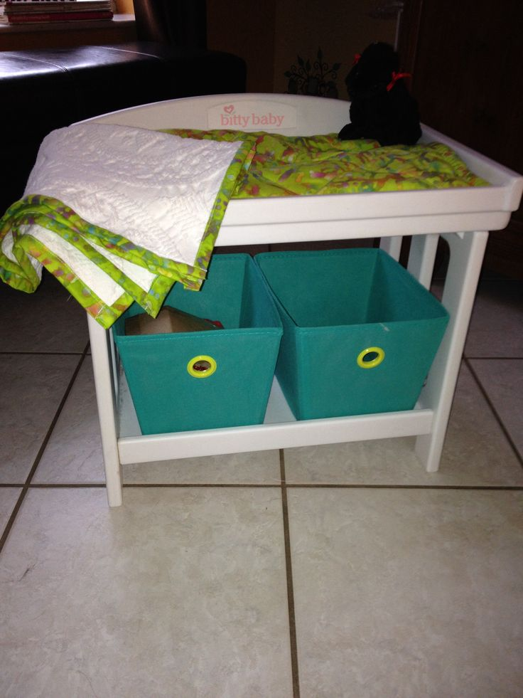 Bitty Baby Changing Table With Blankie