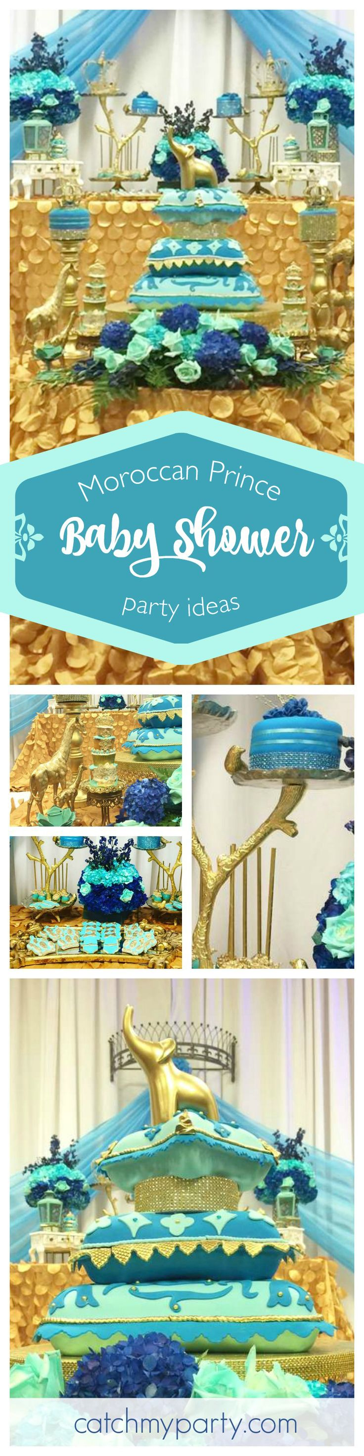 Wow! This Moroccan themed Baby Shower is amazing! Just look at the fabulous cake! See more party ideas at CatchMyParty.com