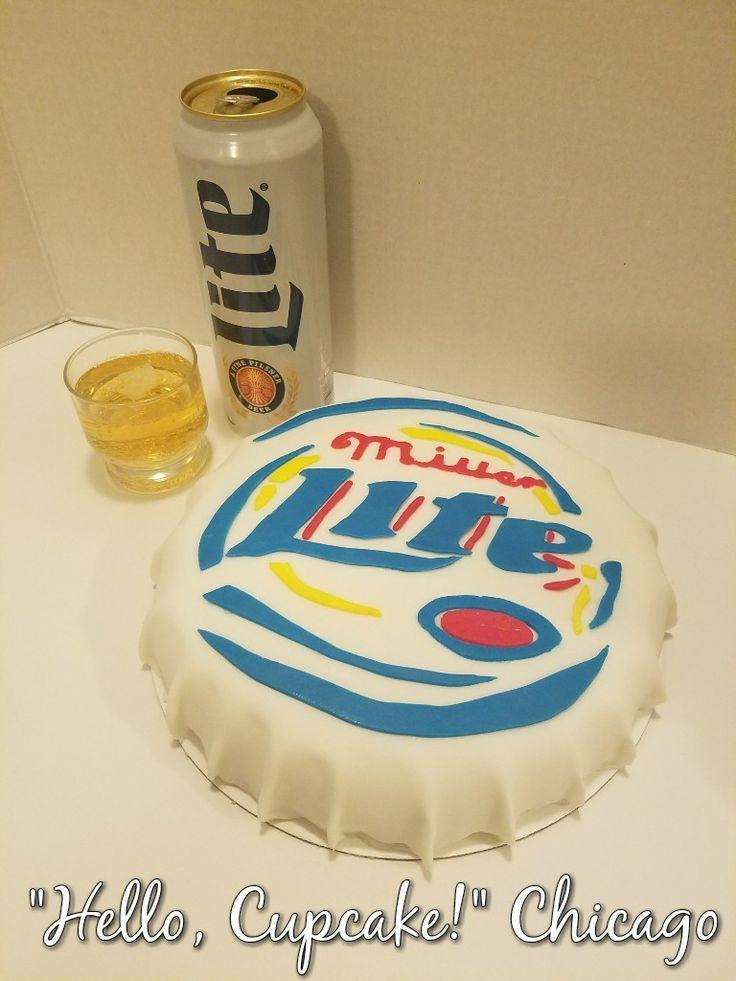 Miller Lite cap cake Miller Lite beer infused