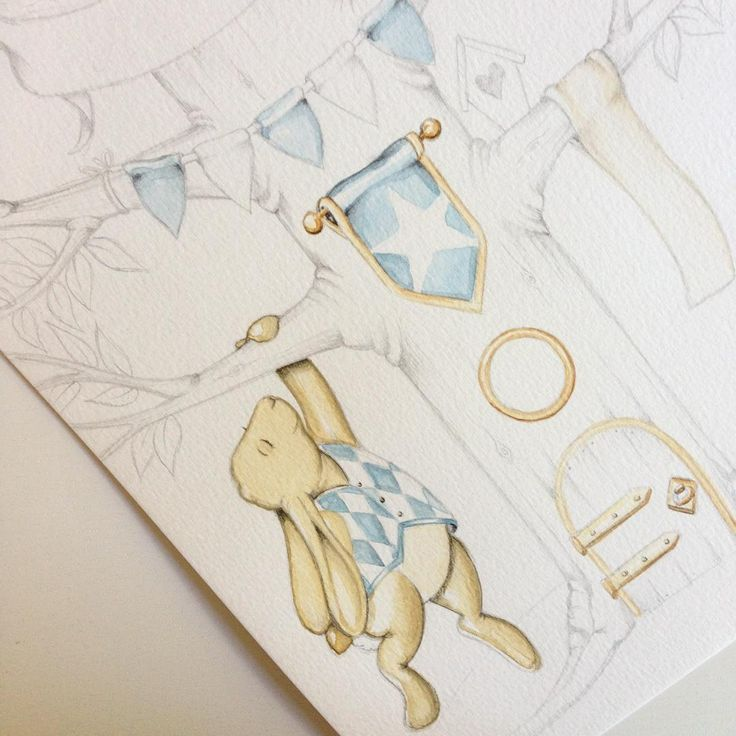 Makin' a blue one - akvarell i A4  #barntavla #namntavla #illustration #akvarell #art #paint #inspo #interiorinspo #interior #kidsroom #pojkrum #flickrum #aquarelle #watercolor #deco #guld #gold #prins #prinsessa #underbarabarnrum #barnrumsinspo #teckna #måla #illustratör #illustrera #baby #babyshower #barn #bebis #doppresent