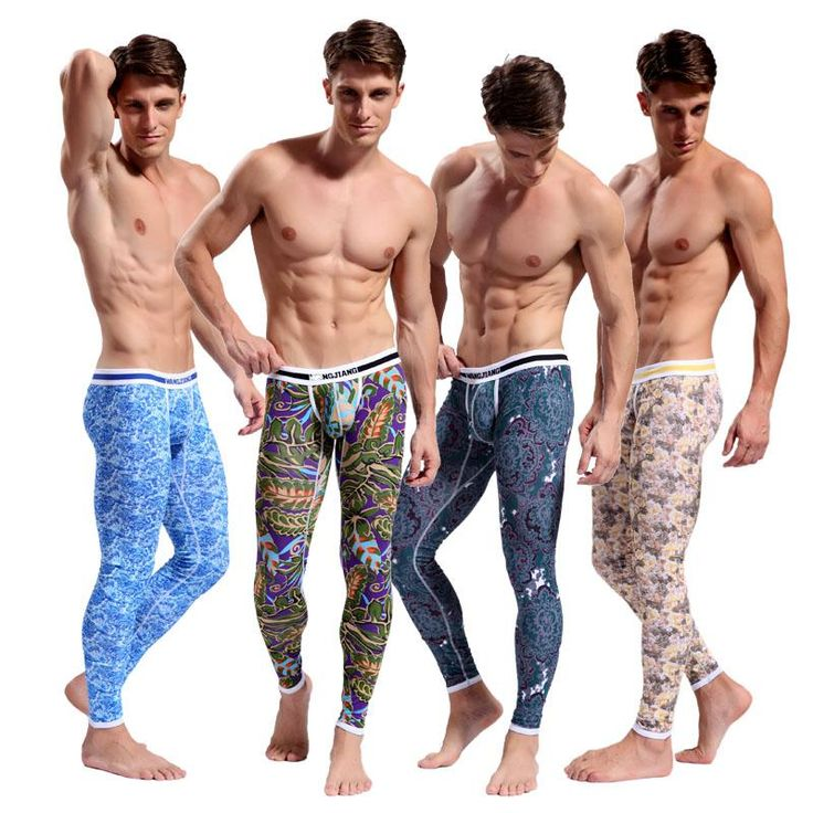 Hot Men's Cotton Pajama Long Johns Bohemia Bottoms Men's Thermal Underwear | Buy…