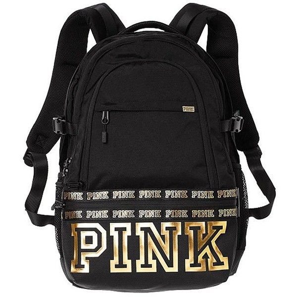 Amazon.com | Victoria's Secret Pink Campus Backpack Animal... ($23) ❤ liked on Polyvore featuring bags, backpacks, animal print bags, knapsack bag, rucksack bags, white and black bag and black white bag