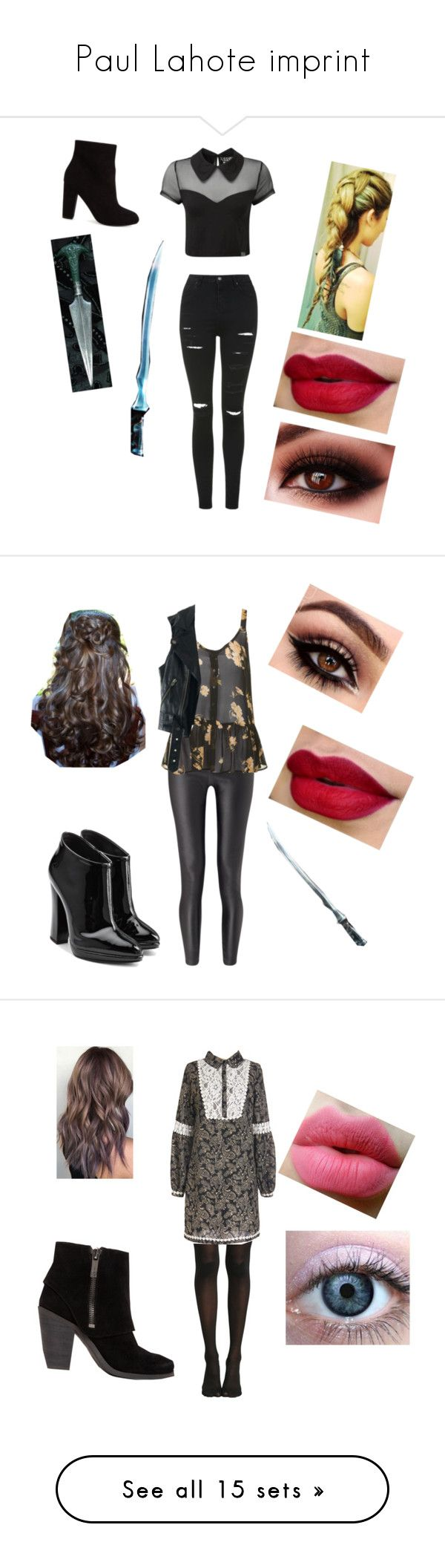 """""""Paul Lahote imprint"""" by anne-mc-geehan ❤ liked on Polyvore featuring Topshop, ASOS, Killstar, Miss Selfridge, Giuseppe Zanotti, Free People, Hot Topic, Jessica Simpson, IRO and Links of London"""