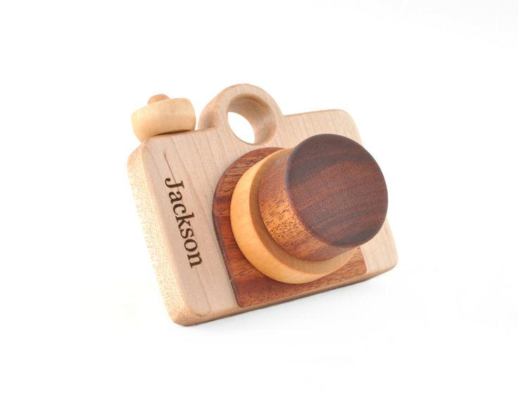 Personalized Wooden Toy Camera - Eco-friendly Imagination. $34.00, via Etsy.