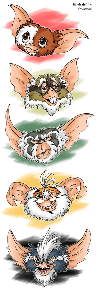Gremlins doodles... Debating whether to find this in a size big enough for a wall mural