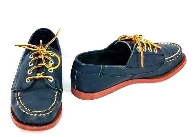 5fd31625408aa Vintage Flings Shoes Womens Size 5 Loafers Oxford Blue Leather Lace ...