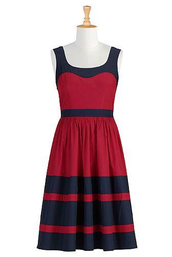 red and blue colorblock retro frockWomen Colorblock, Fashion Dresses, Custom Clothing, Eshakti Women, Retro Frocks, Design Fashion, Size 0 36W, Shops Women, Colorblock Retro