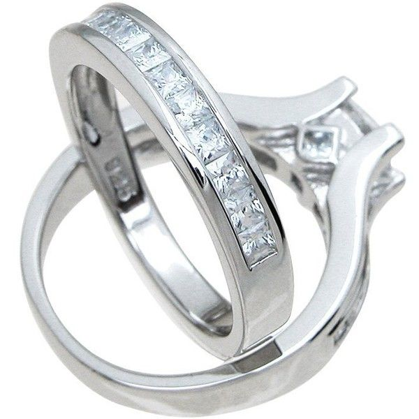 34 liked on polyvore featuring jewelry rings cz wedding rings fake diamond rings diamond wedding rings fake wedding rings and fake - Fake Wedding Ring