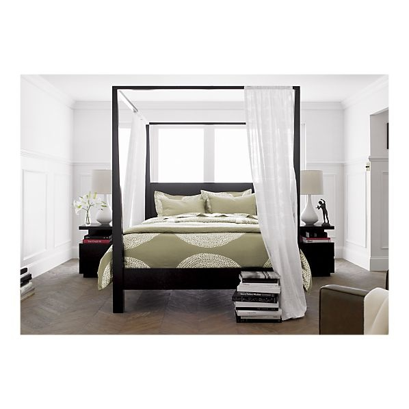crate and barrel canopy bed 1